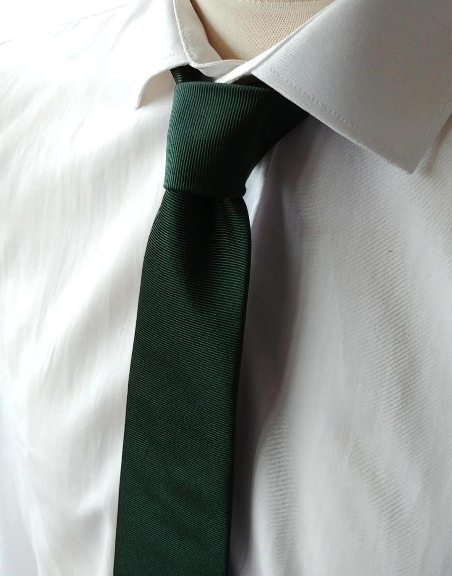 Solid silk neckties